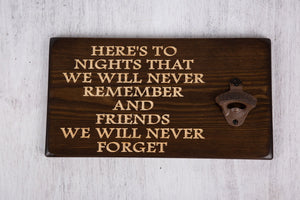 "Unique Gifts For Friends - Personalised Bottle Opener ""Friends"""