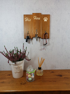Personalised Gifts for Dogs -His hers and Dog Lead Holder