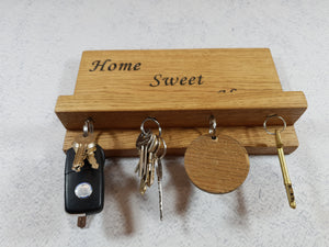 Personalized Gifts For Him - Engraved Magnetic Key Holder with Shelf