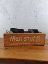 Load image into Gallery viewer, Personalised Gifts For Him - Unique Wooden Boxes - Man Stuff