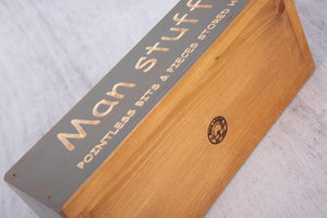 Personalised Gifts For Him - Unique Wooden Boxes - Man Stuff