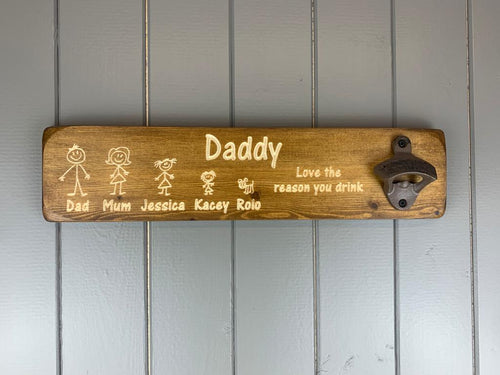 Personalised Family Bottle Openers