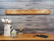 Unique Personalised Anniversary Gifts - Truly, Madly, Deeply