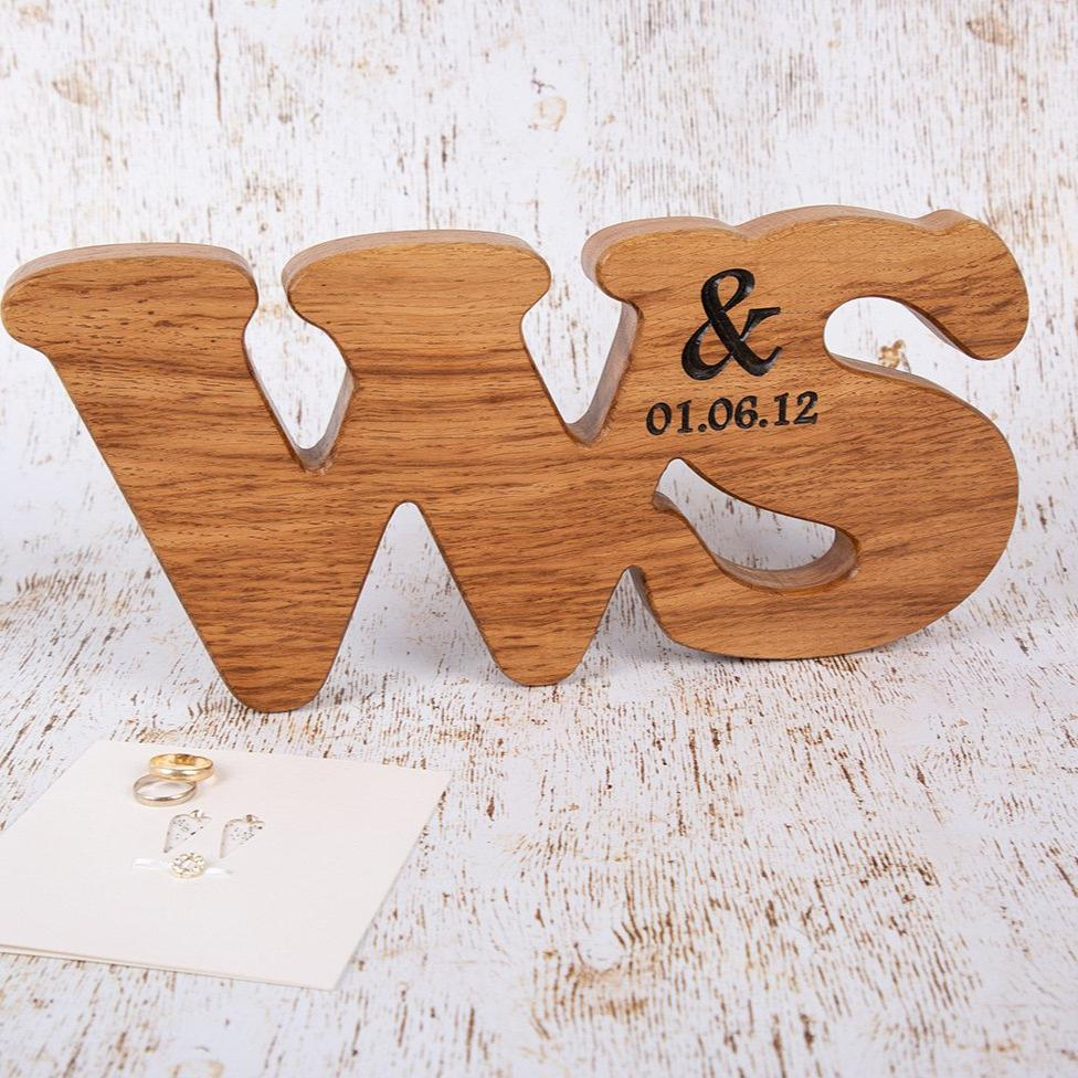 Engagement Presents - Double Oak Personalised Letters