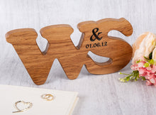 Load image into Gallery viewer, Wedding Anniversary Gifts - Double Oak Personalized Letters
