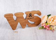 Load image into Gallery viewer, Double Oak Personalised Letters