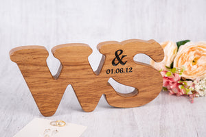 Double Oak Personalised Letters
