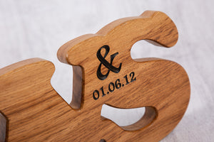 Wedding Anniversary Gifts - Double Oak Personalized Letters