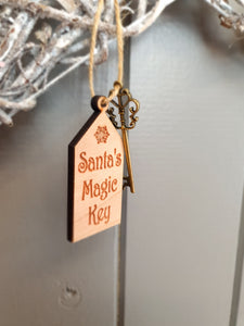Wooden Magic Santa Key