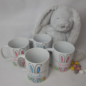 PERSONALISED EASTER BUNNY MUG FOR GIRLS/BOYS