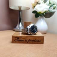 Personalised Oak Watch Stand For One To Four Watches