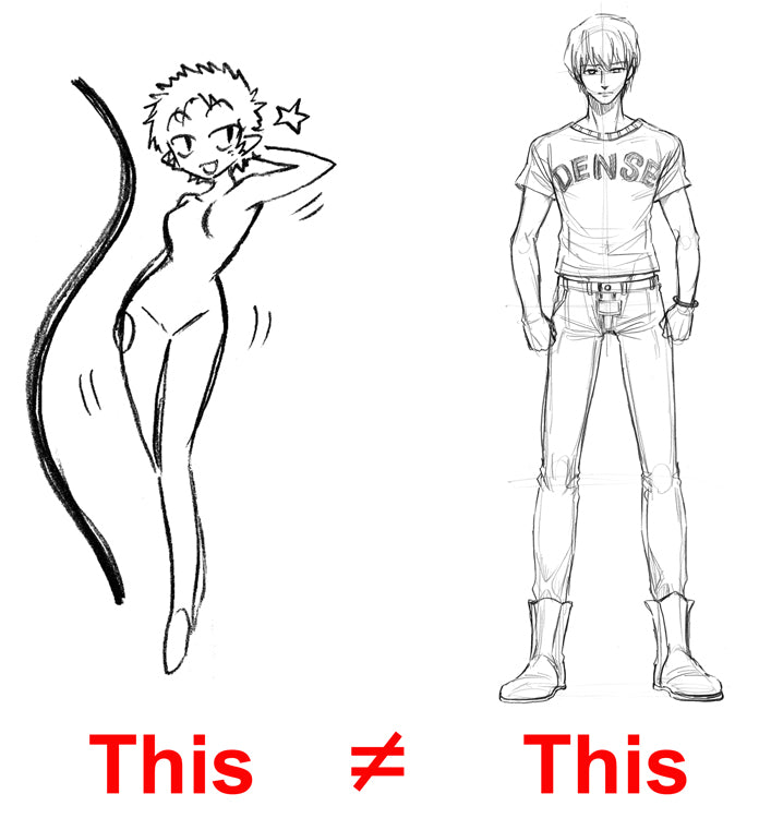 Male manga characters body shape