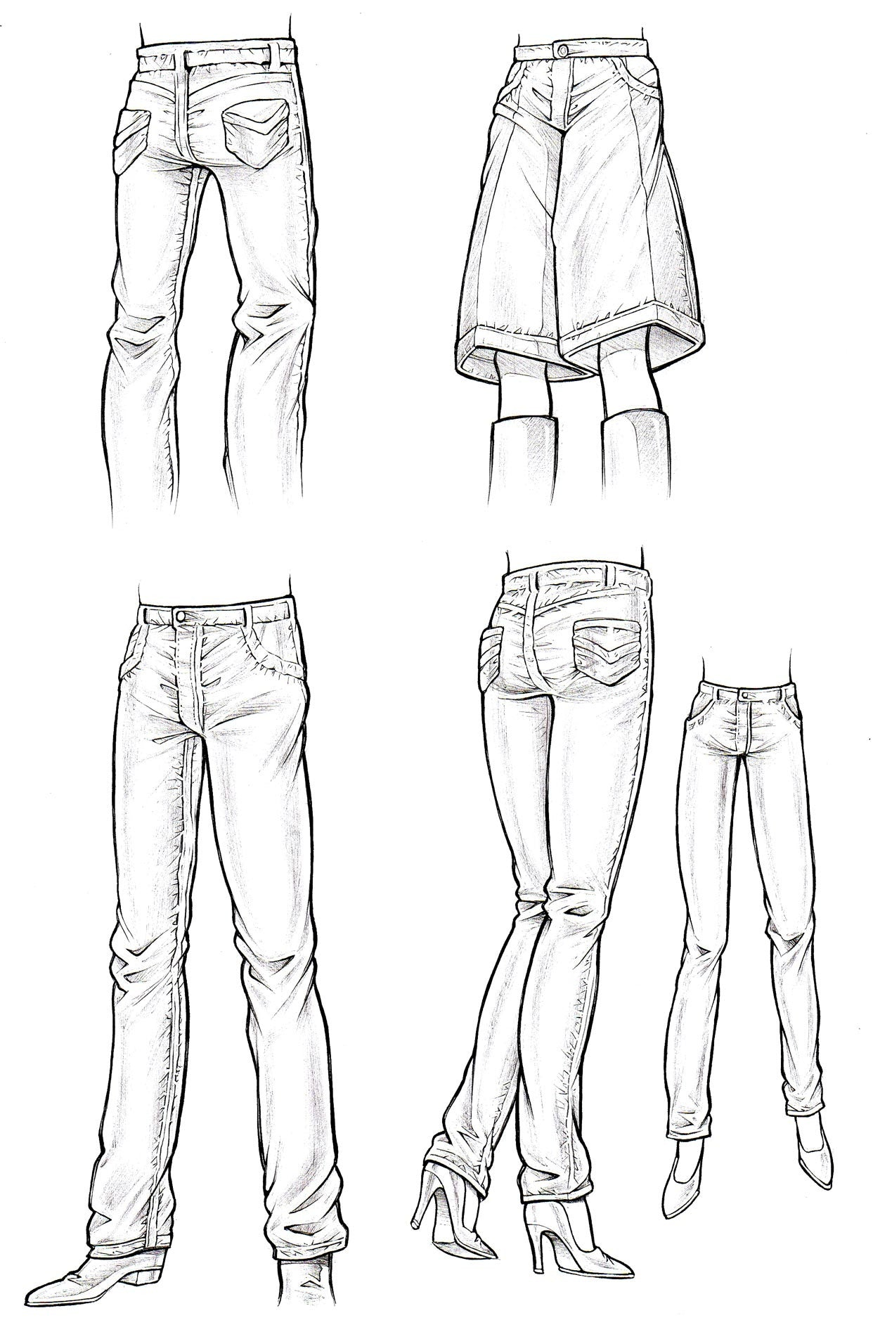 Brilliant Women39s Pants Template By SUPERHOLIK On DeviantArt
