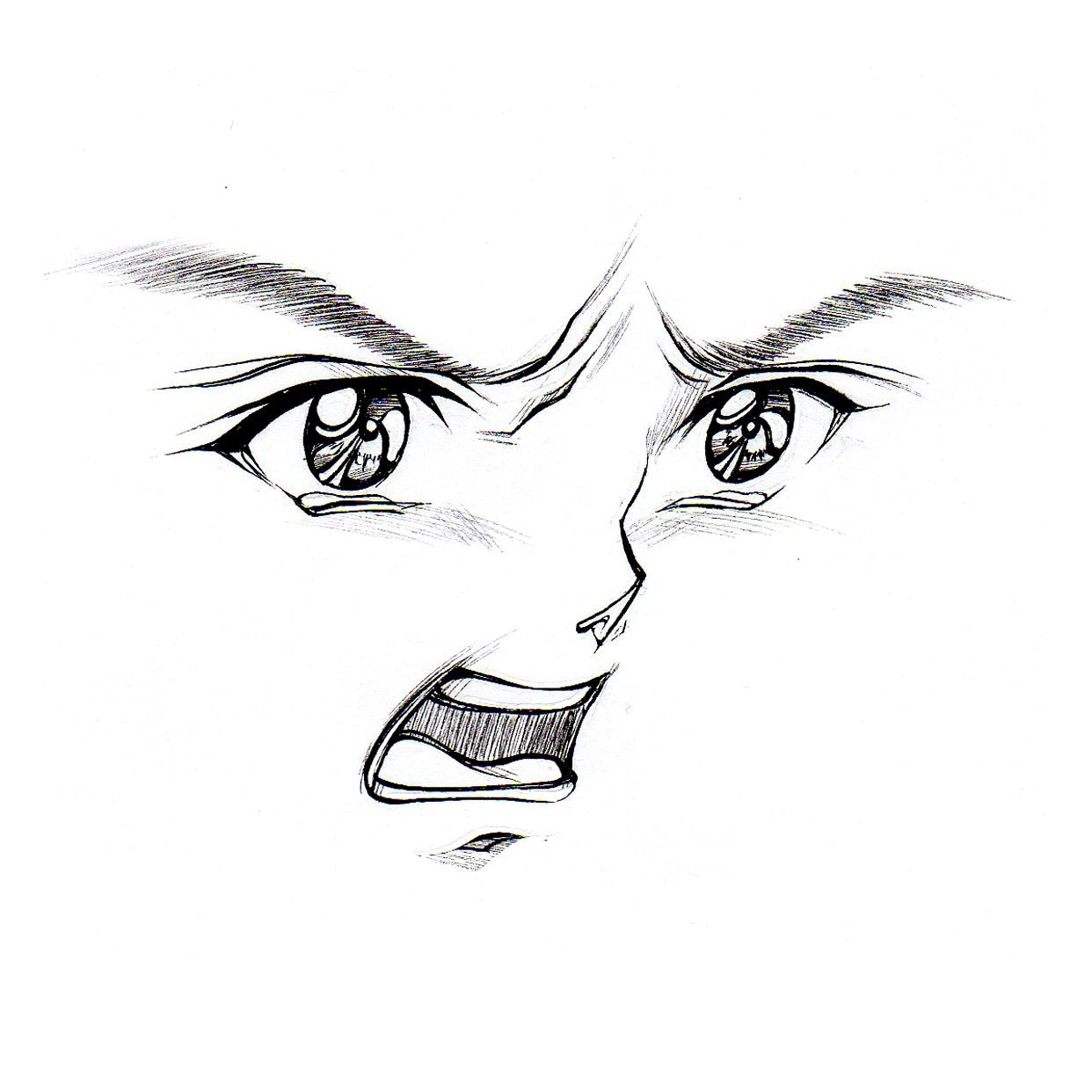 It's just a picture of Dynamic Angry Mouth Drawing