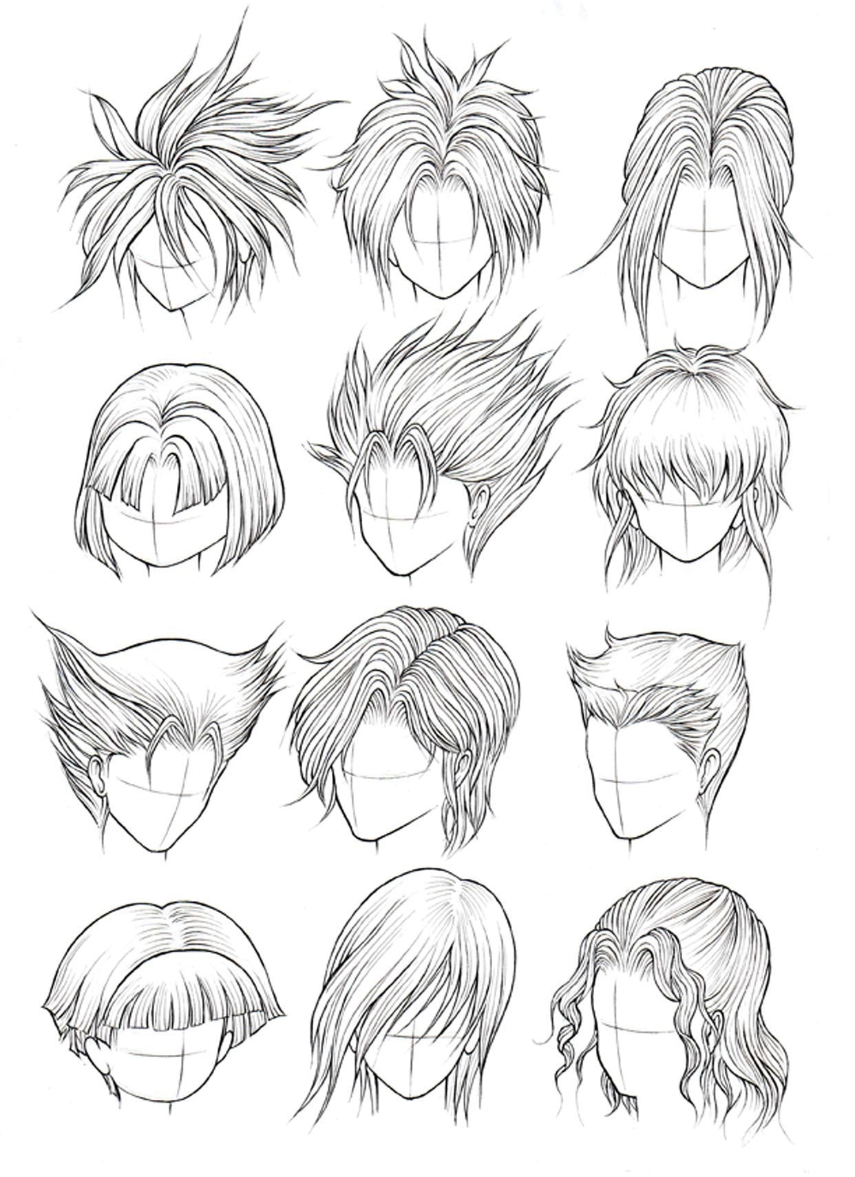 Line Drawing Hair : How to draw hair part manga university campus store