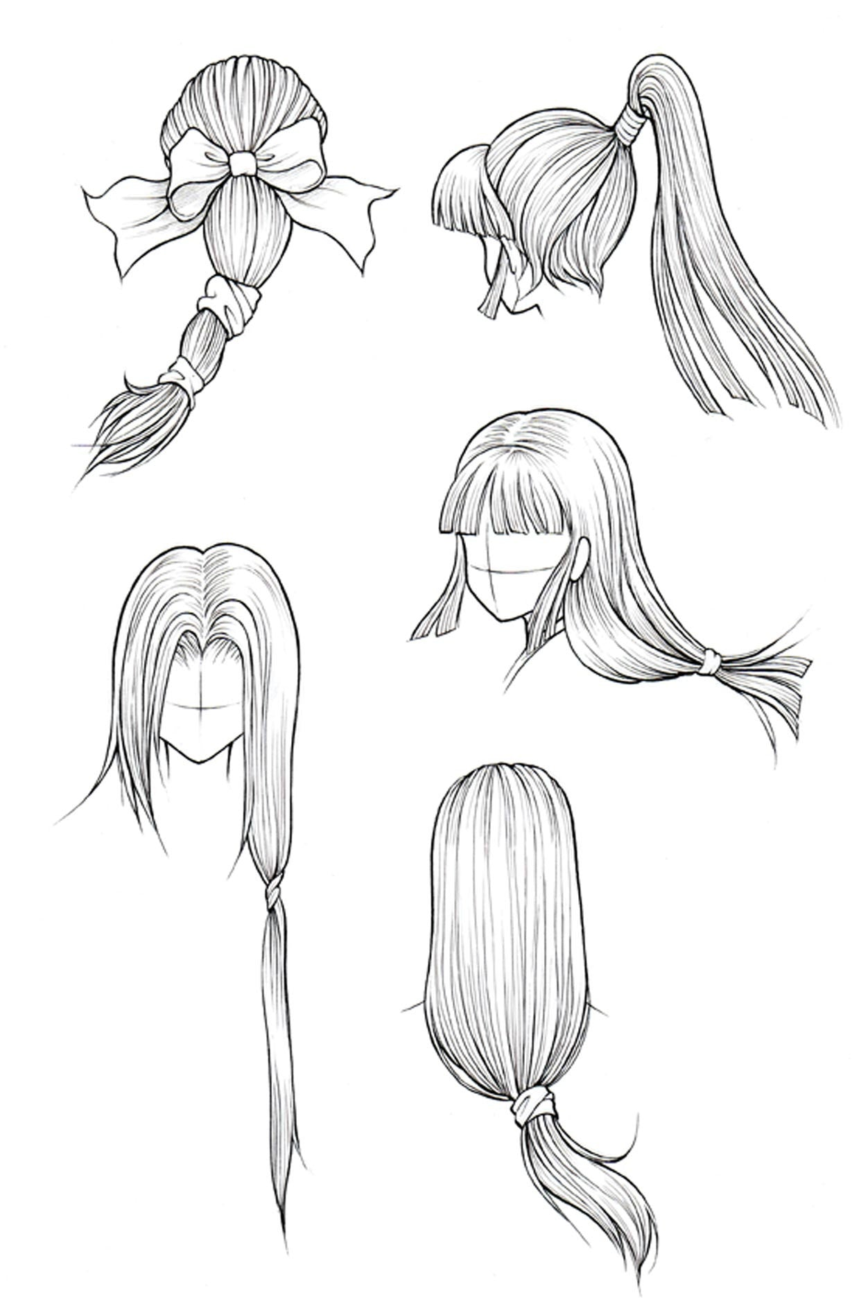 Uncategorized How To Draw A Pony Tail how to draw hair part 3 manga university campus store kanji de vol cover image
