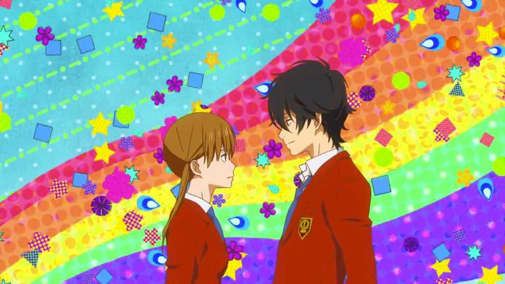 付き合い (つきあい) - seeing each other/in a relationship <br> From Tonari no Kaibutsu-kun