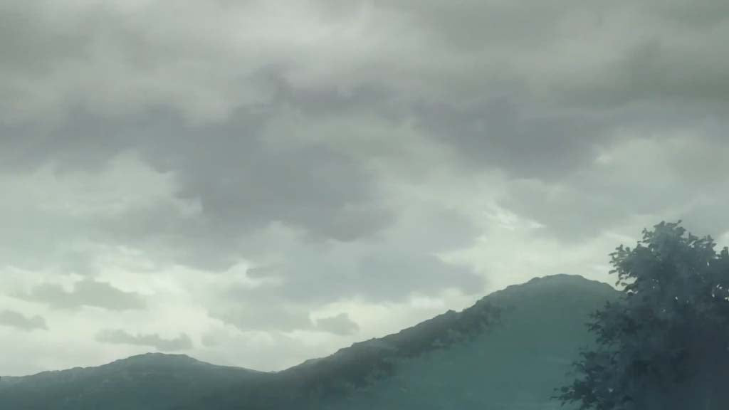 雲(kumo)- cloud <br> From Clannad, episode 2