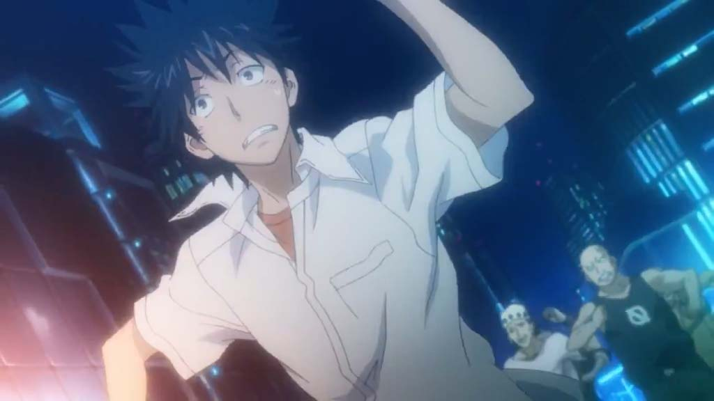 不幸(fukou)- unhappiness, misfortune <br> From A Certain Magical Index, episode 1