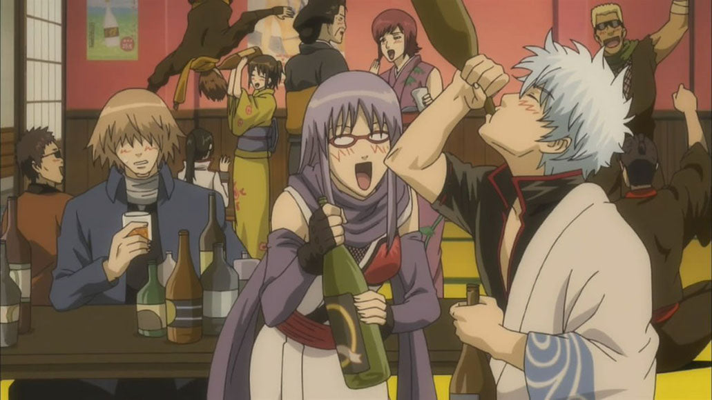 飲み会 (nomikai) - drinking party <br> From Gintama