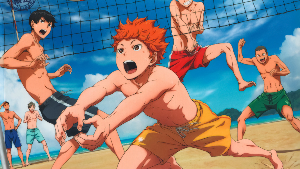 ビーチバレー (bīchibarē) - beach volleyball  <br> From Haikyuu!