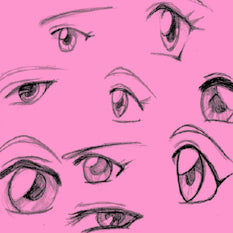 How to Draw Female Manga Eyes Tutorial
