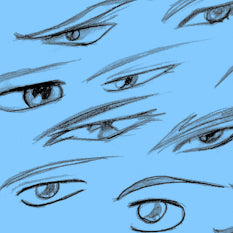 How to Draw Male Manga Eyes Tutorial