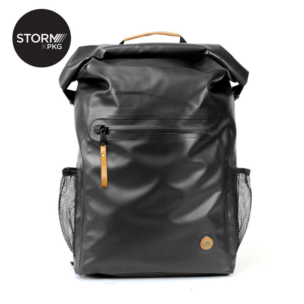 PKG STORM LB01 Roll-Top Backpack - BLACK