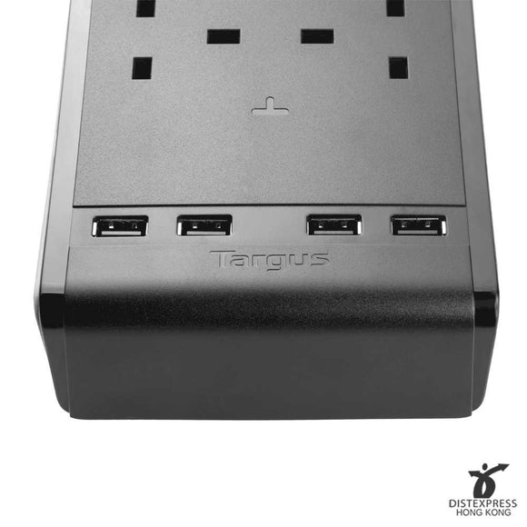 Targus Smart Surge 6 Power Strip with 4 USB Ports (UK) - DISTEXPRESS.HK