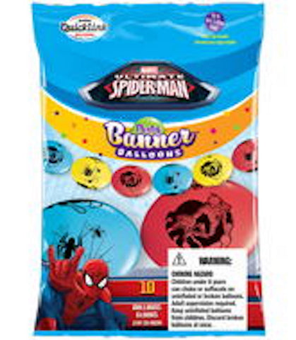 "12"" Latex Linking Balloon Spiderman Banner"
