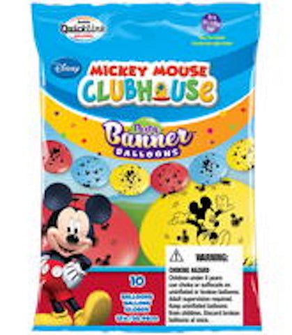 "12"" Latex Linking Balloon Mickey Mouse Banner"