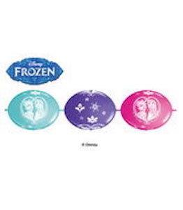 "12"" Latex Linking Balloon Frozen Banner"