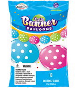 "12"" Latex Linking Balloon Polka Dots Banner"