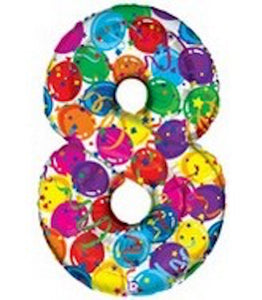 "40"" Number Eight Balloon - Balloons & Streamers Design"