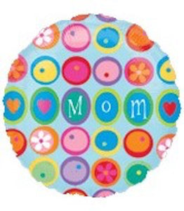"32"" Mom With Flowers Mylar Balloon"