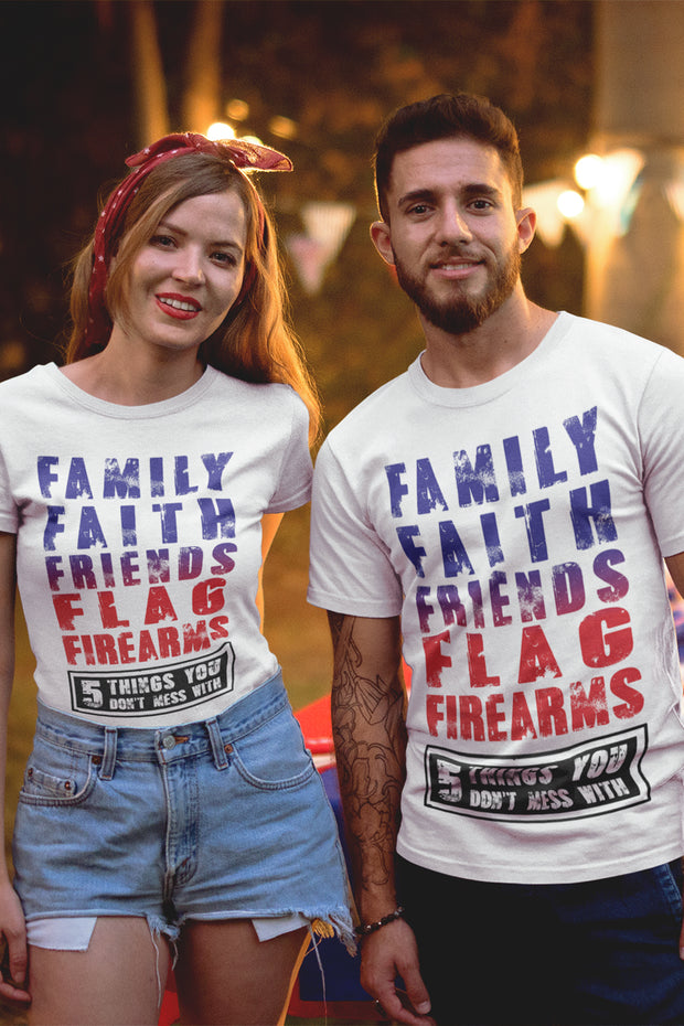 Family Faith Friends Flag Firearms T-Shirt