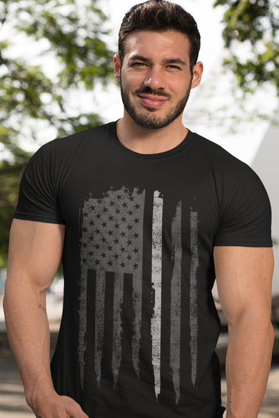 Thin Gray Line Flag T-Shirt - Men's
