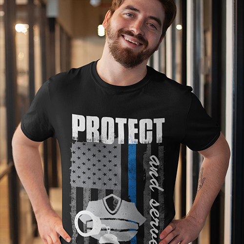 Protect and Serve - Men's T-Shirt