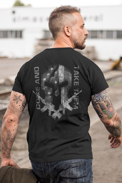Spartan - Come and Take Them - T-Shirt (B/W)