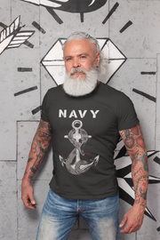 Navy Anchor and Snake T-Shirt