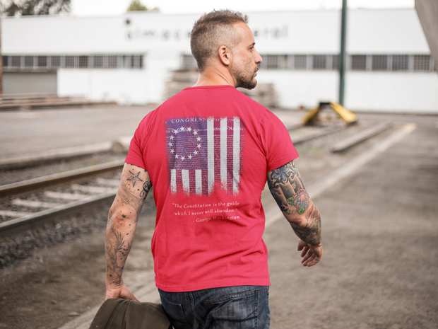 Betsy Ross Flag and Constitution T-Shirt