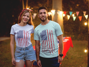 Weathered Flag T Shirt