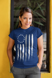 Betsy Ross Thin Gray Line T-Shirt - Women's