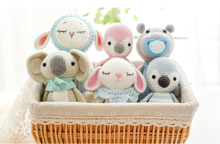 Elephant female woven cotton crochet diy hand-knitted cotton yarn doll material