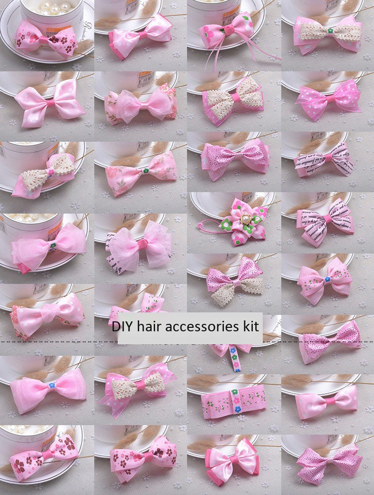 Pink B handmade hair accessories