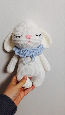 rabbit woven cotton crochet diy hand-knitted cotton yarn doll material