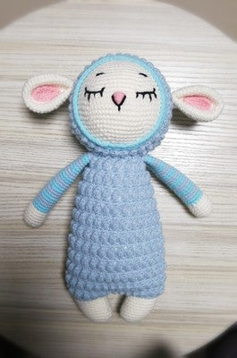 Big and small sheep woven cotton crochet diy hand-knitted cotton yarn doll material