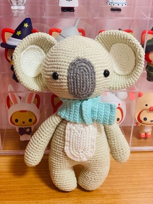 Koala woven cotton crochet diy hand-knitted cotton yarn doll material