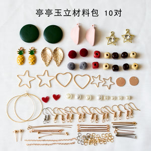 Earrings material bag accessories of their own DIY production - Slim