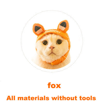 Fox Cat headgear material bag handmade diy crochet medium thick